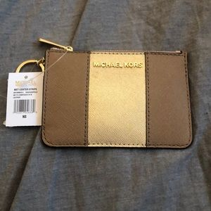 Michael by Michael Kors gold clutch